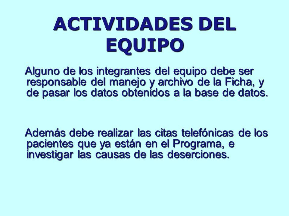 ACTIVIDADES DEL EQUIPO