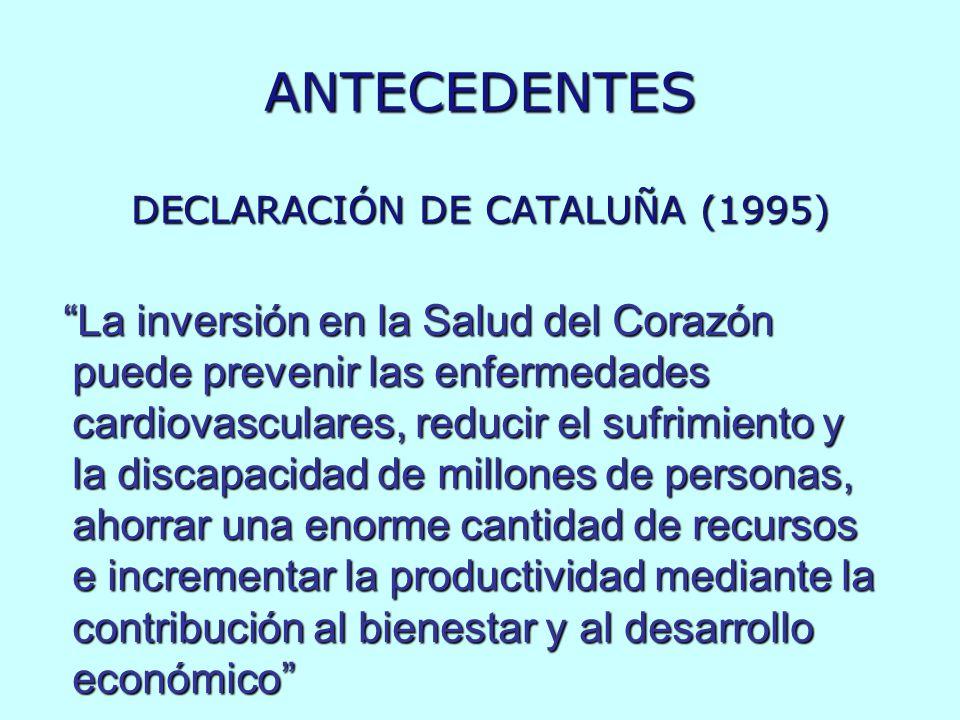 ANTECEDENTES DECLARACIÓN DE CATALUÑA (1995)