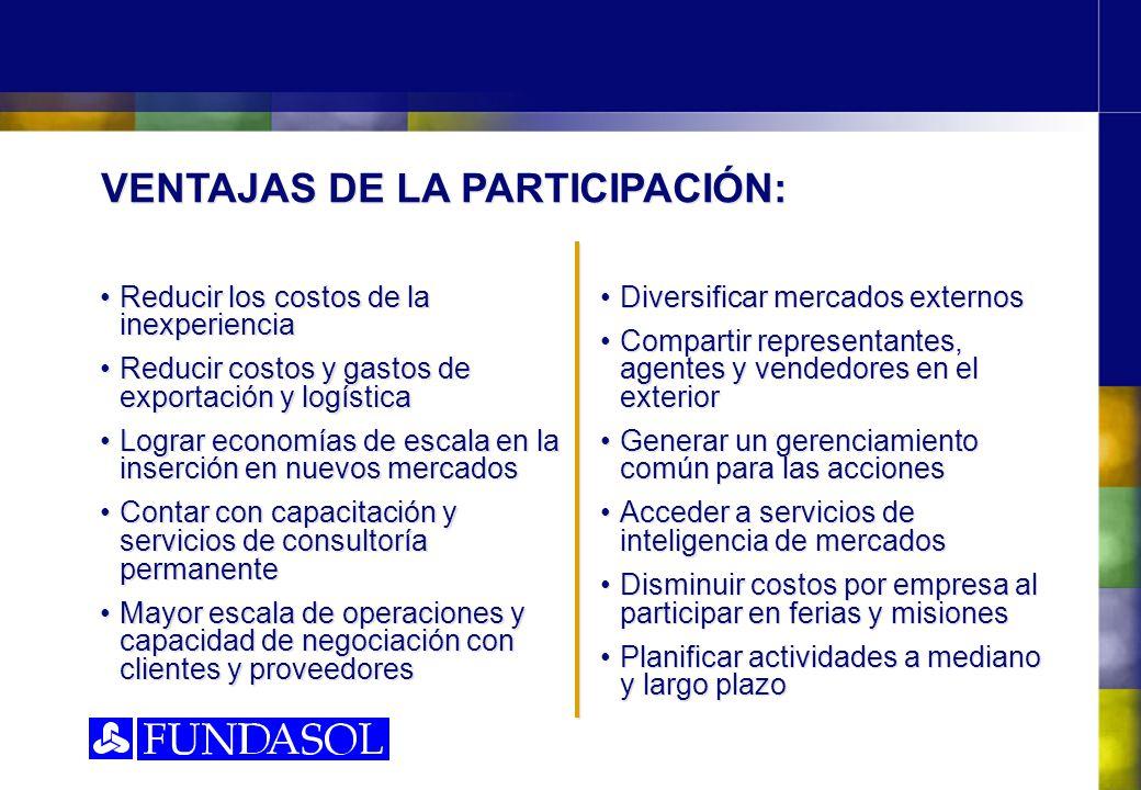 VENTAJAS DE LA PARTICIPACIÓN: