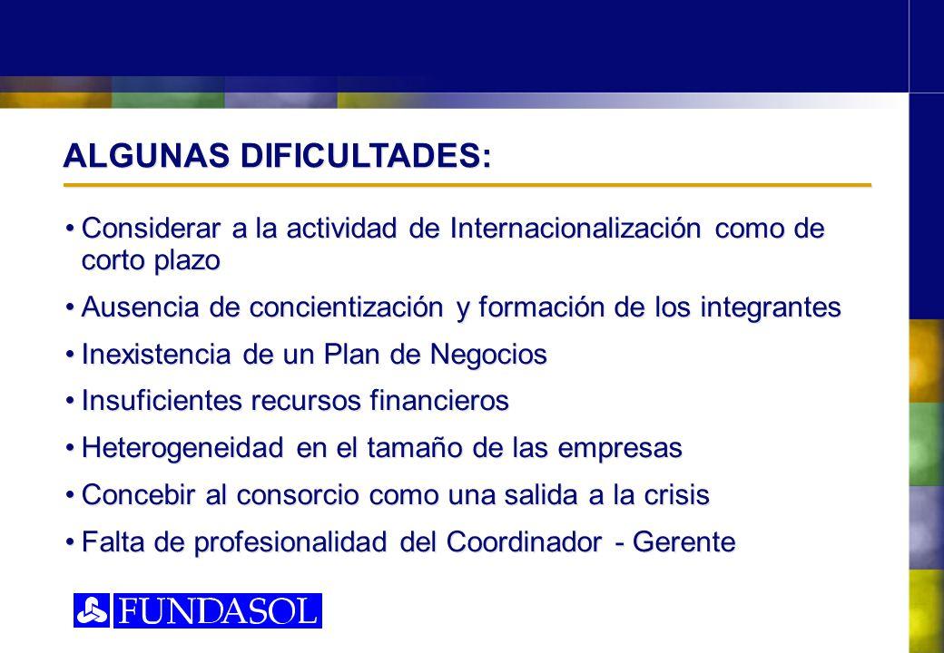 ALGUNAS DIFICULTADES: