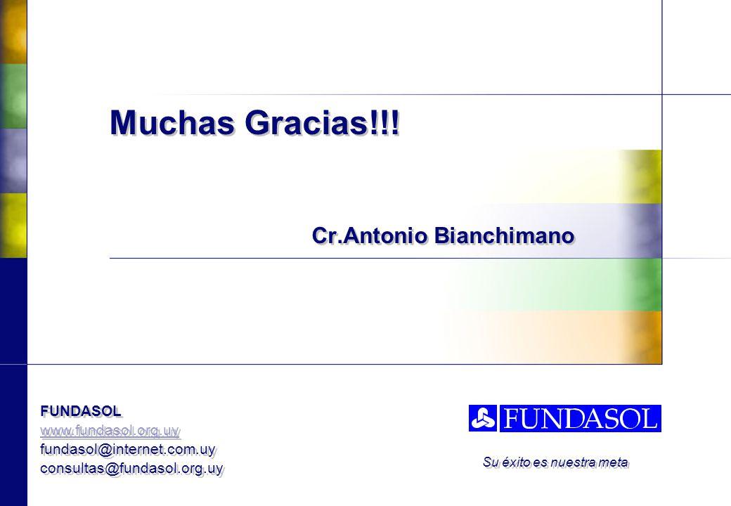 Muchas Gracias!!! Cr.Antonio Bianchimano