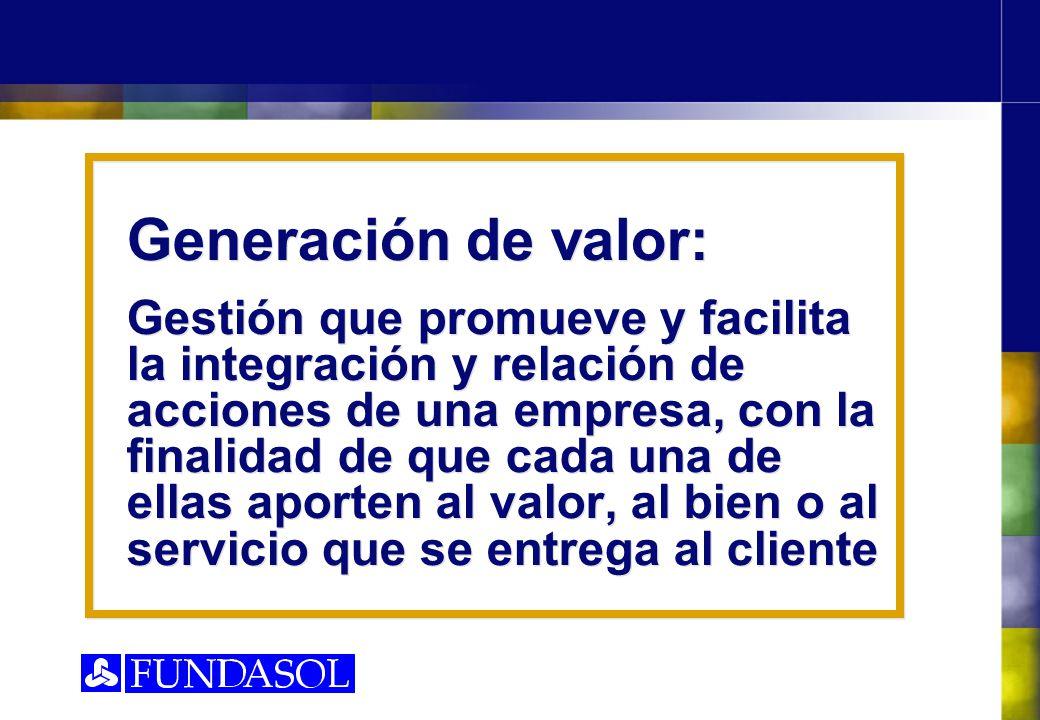 Generación de valor: