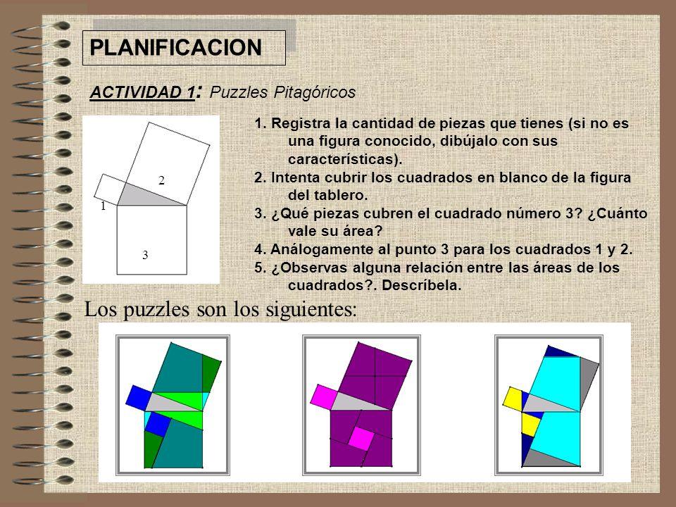 Los puzzles son los siguientes: