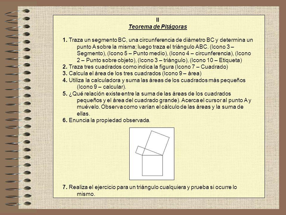 II Teorema de Pitágoras.