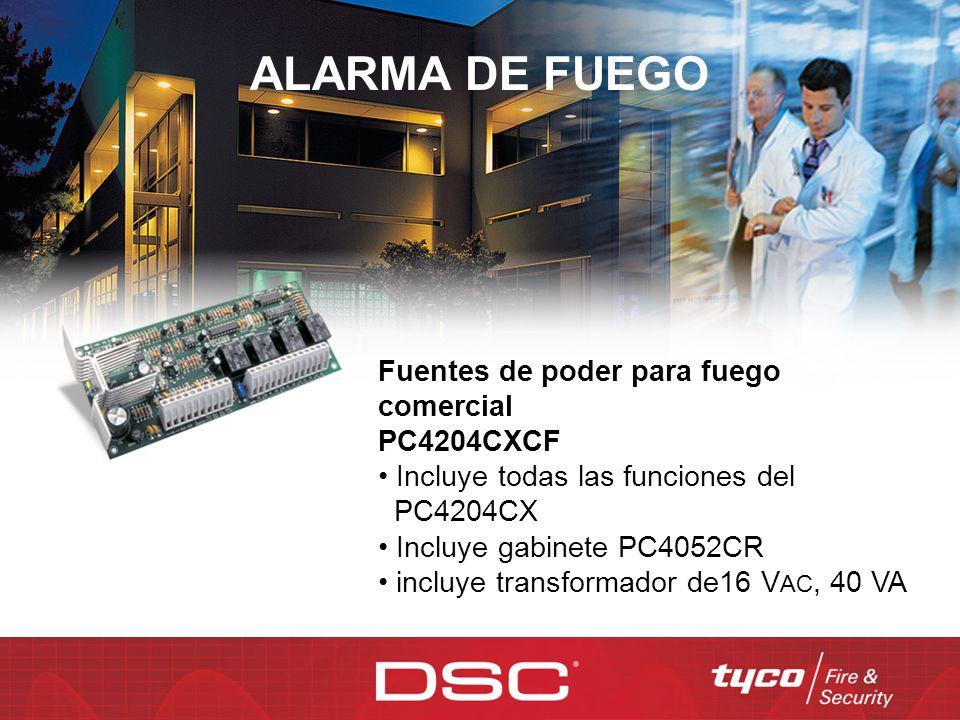 ALARMA DE FUEGO Fuentes de poder para fuego comercial PC4204CXCF