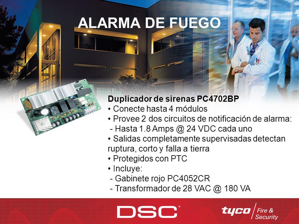 ALARMA DE FUEGO Duplicador de sirenas PC4702BP