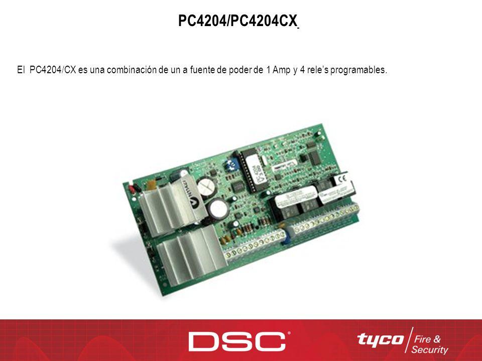 PC4204/PC4204CX / El PC4204/CX es una combinación de un a fuente de poder de 1 Amp y 4 rele's programables.