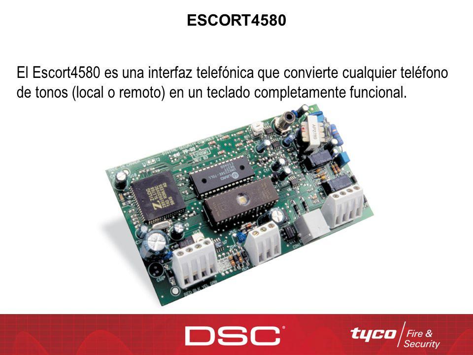 ESCORT4580 El Escort4580 es una interfaz telefónica que convierte cualquier teléfono de tonos (local o remoto) en un teclado completamente funcional.