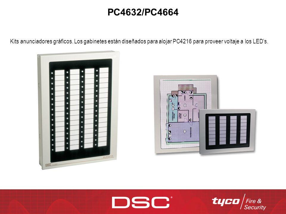 PC4632/PC4664 Kits anunciadores gráficos.