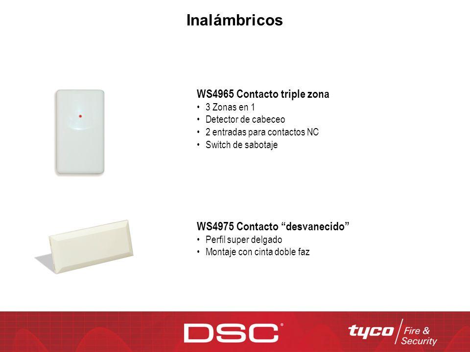 Inalámbricos WS4965 Contacto triple zona WS4975 Contacto desvanecido