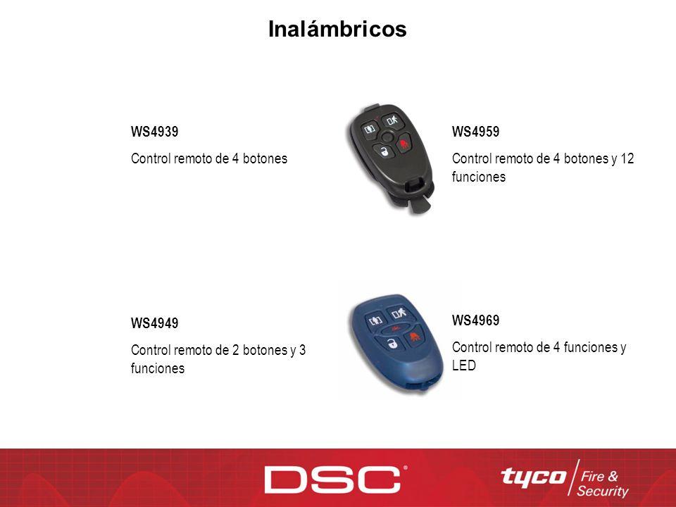 Inalámbricos WS4939 Control remoto de 4 botones WS4959