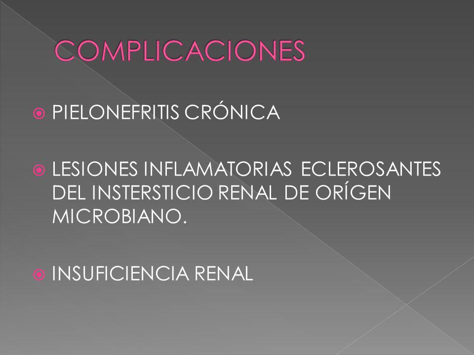COMPLICACIONES PIELONEFRITIS CRÓNICA