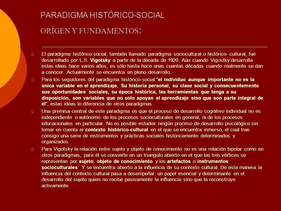 PARADIGMA HISTÓRICO-SOCIAL