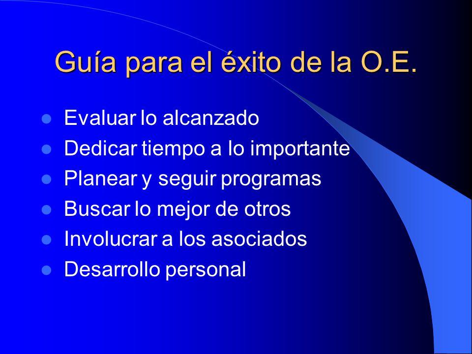 Guía para el éxito de la O.E.