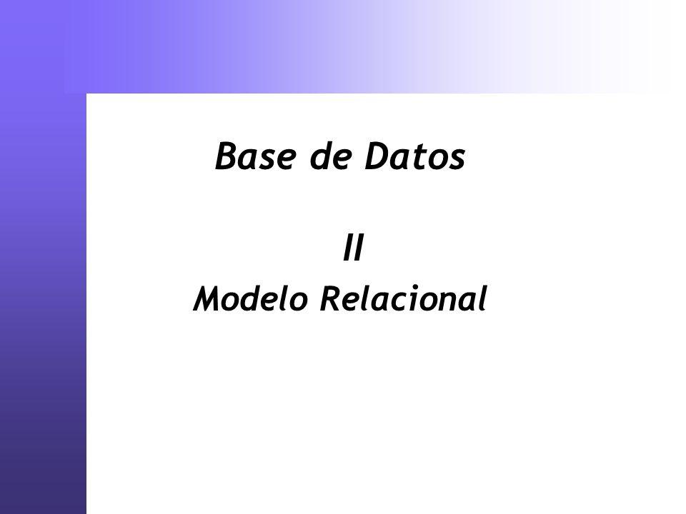 Base de Datos II Modelo Relacional