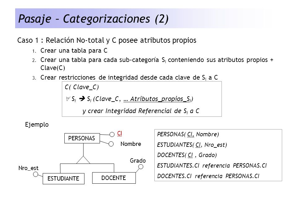 Pasaje – Categorizaciones (2)