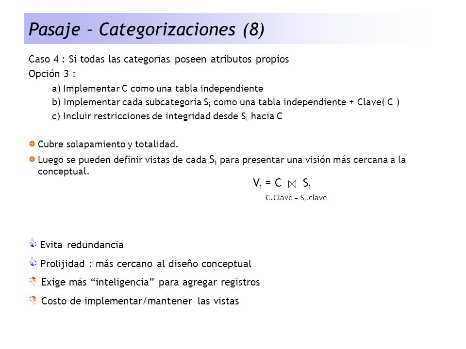 Pasaje – Categorizaciones (8)