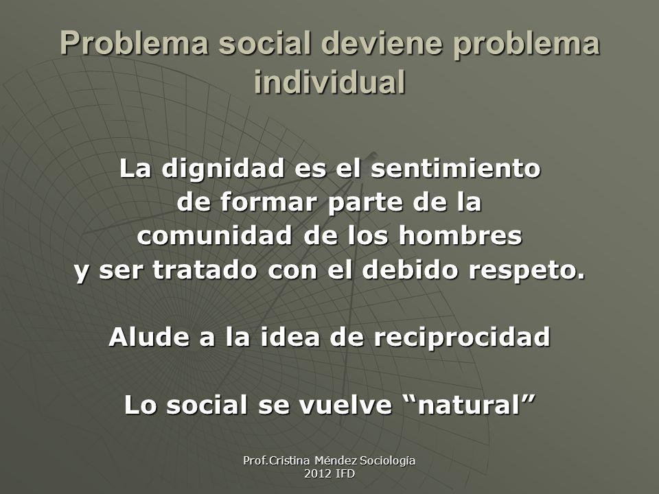 Problema social deviene problema individual