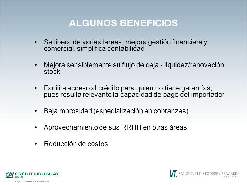 ALGUNOS BENEFICIOS Se libera de varias tareas, mejora gestión financiera y comercial, simplifica contabilidad.