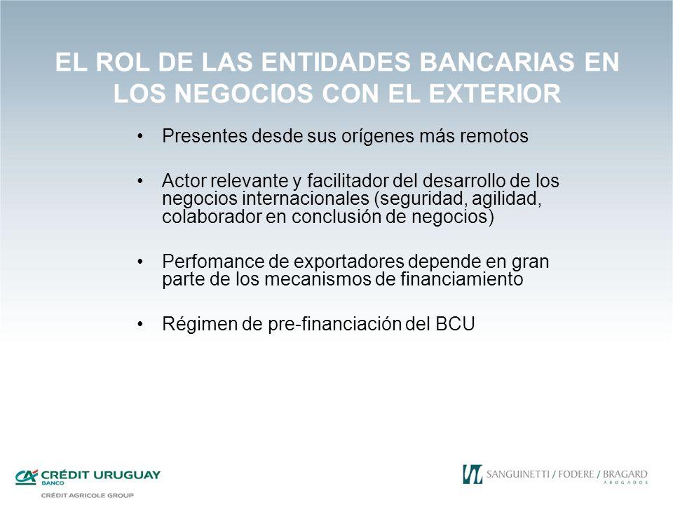 EL ROL DE LAS ENTIDADES BANCARIAS EN LOS NEGOCIOS CON EL EXTERIOR