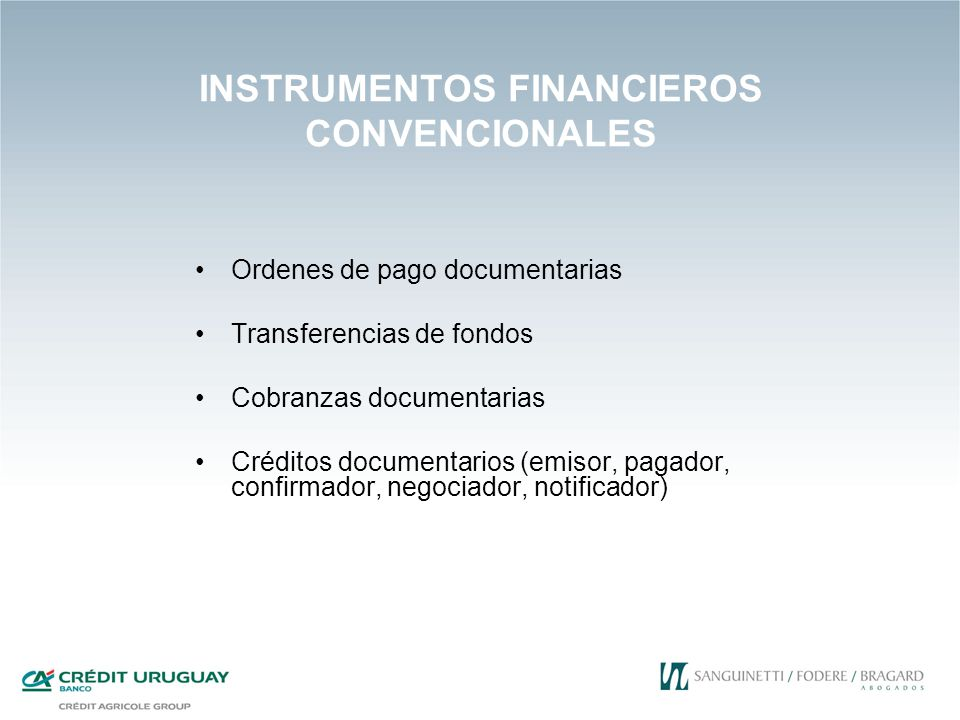 INSTRUMENTOS FINANCIEROS CONVENCIONALES