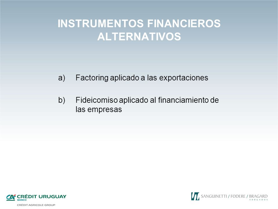 INSTRUMENTOS FINANCIEROS ALTERNATIVOS