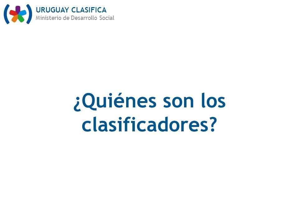 ¿Quiénes son los clasificadores