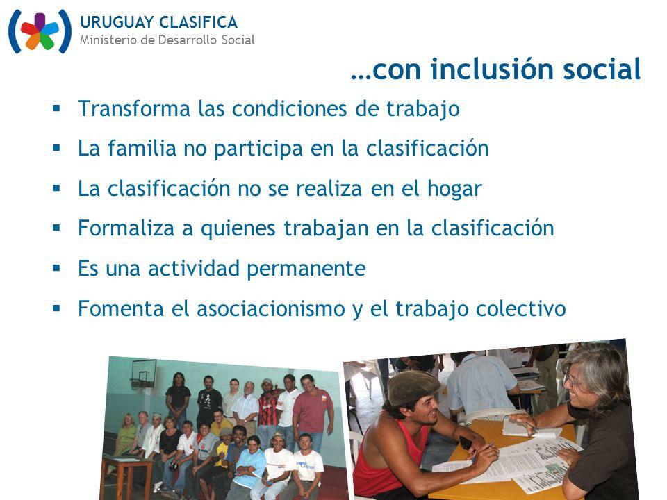 …con inclusión social Transforma las condiciones de trabajo