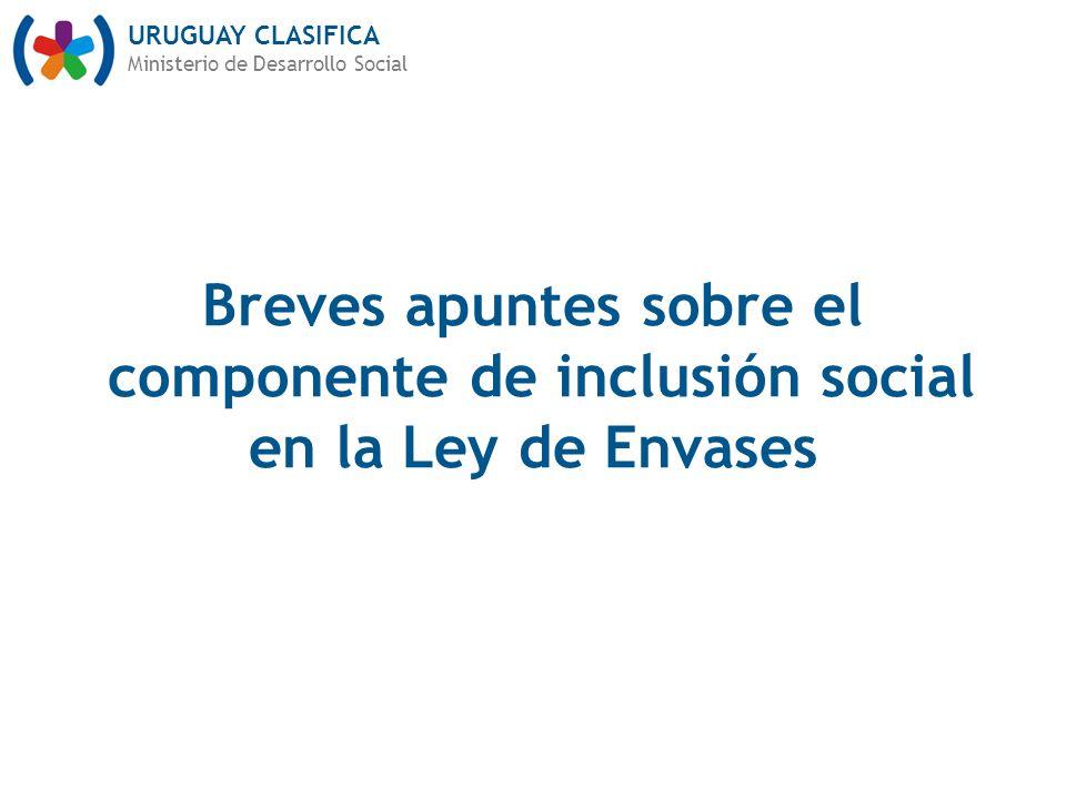 Breves apuntes sobre el componente de inclusión social en la Ley de Envases