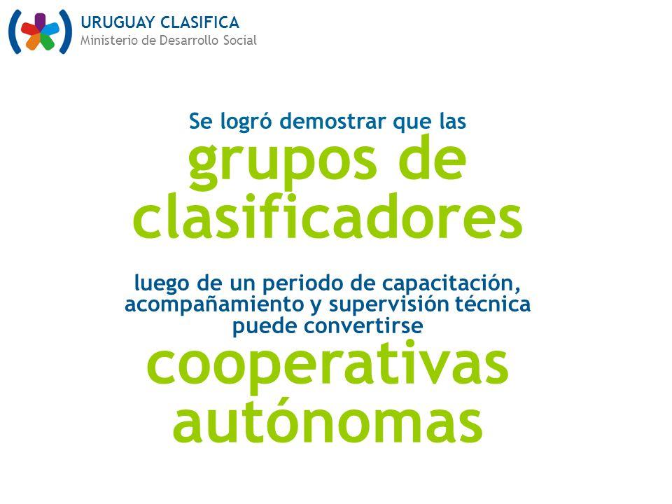 grupos de clasificadores cooperativas autónomas