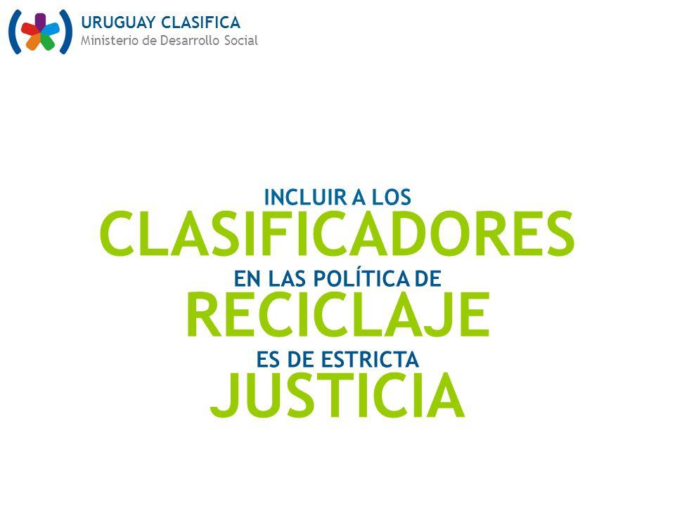 CLASIFICADORES RECICLAJE JUSTICIA