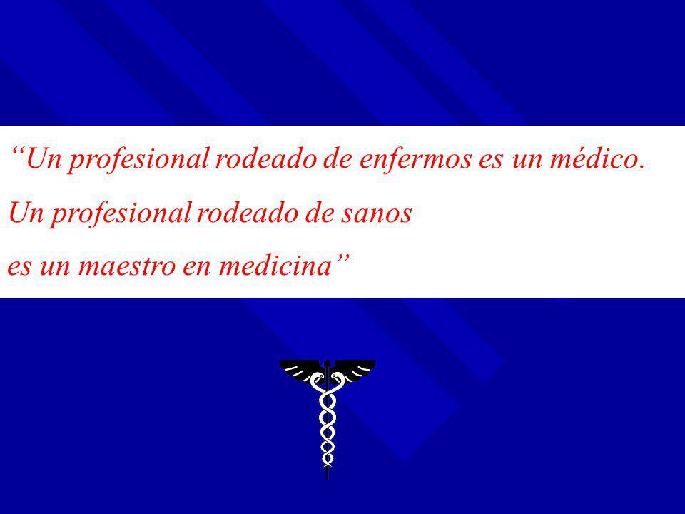 Un profesional rodeado de enfermos es un médico.