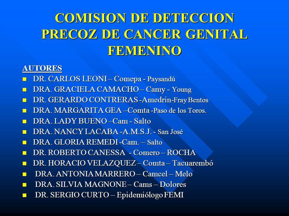 COMISION DE DETECCION PRECOZ DE CANCER GENITAL FEMENINO