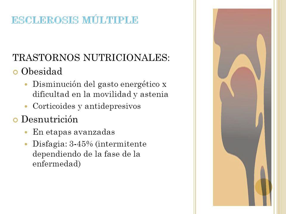 TRASTORNOS NUTRICIONALES: Obesidad