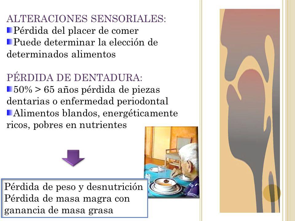 ALTERACIONES SENSORIALES: