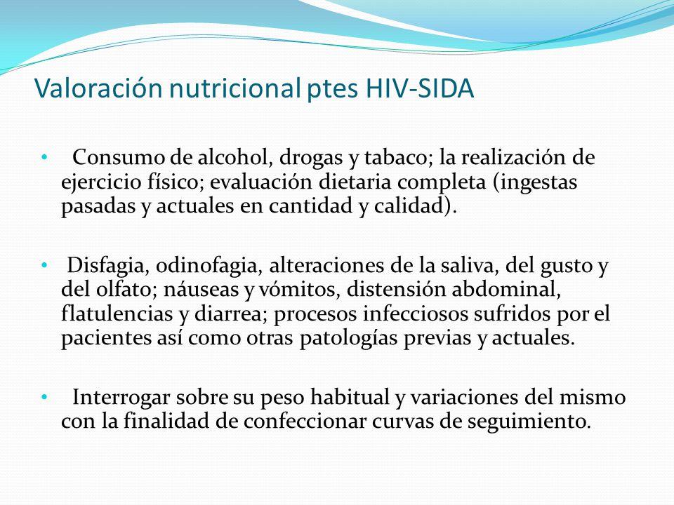Valoración nutricional ptes HIV-SIDA