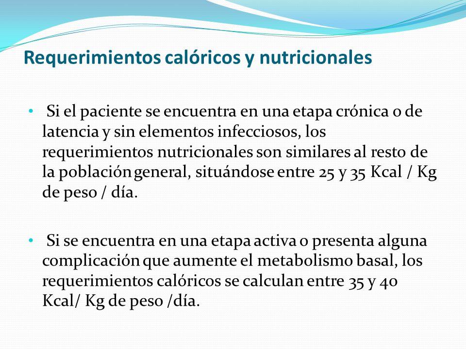Requerimientos calóricos y nutricionales