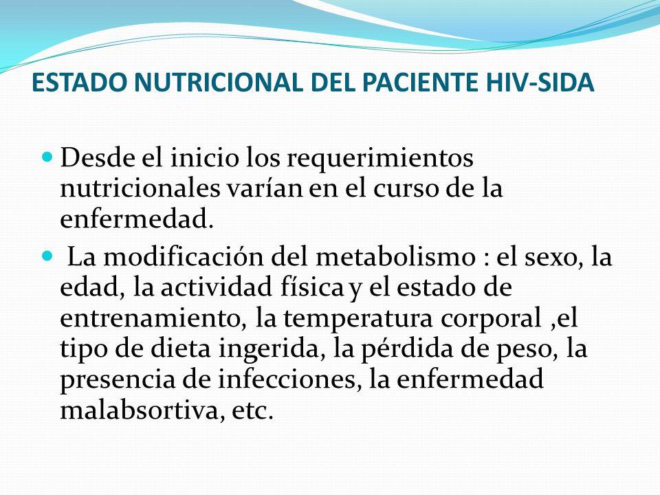 ESTADO NUTRICIONAL DEL PACIENTE HIV-SIDA