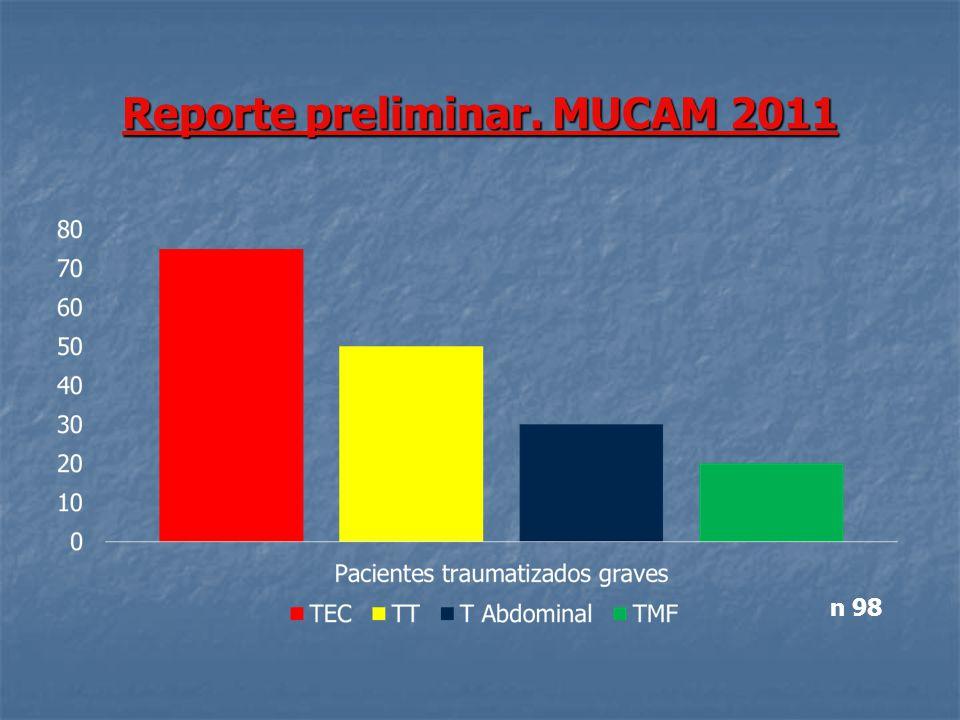 Reporte preliminar. MUCAM 2011