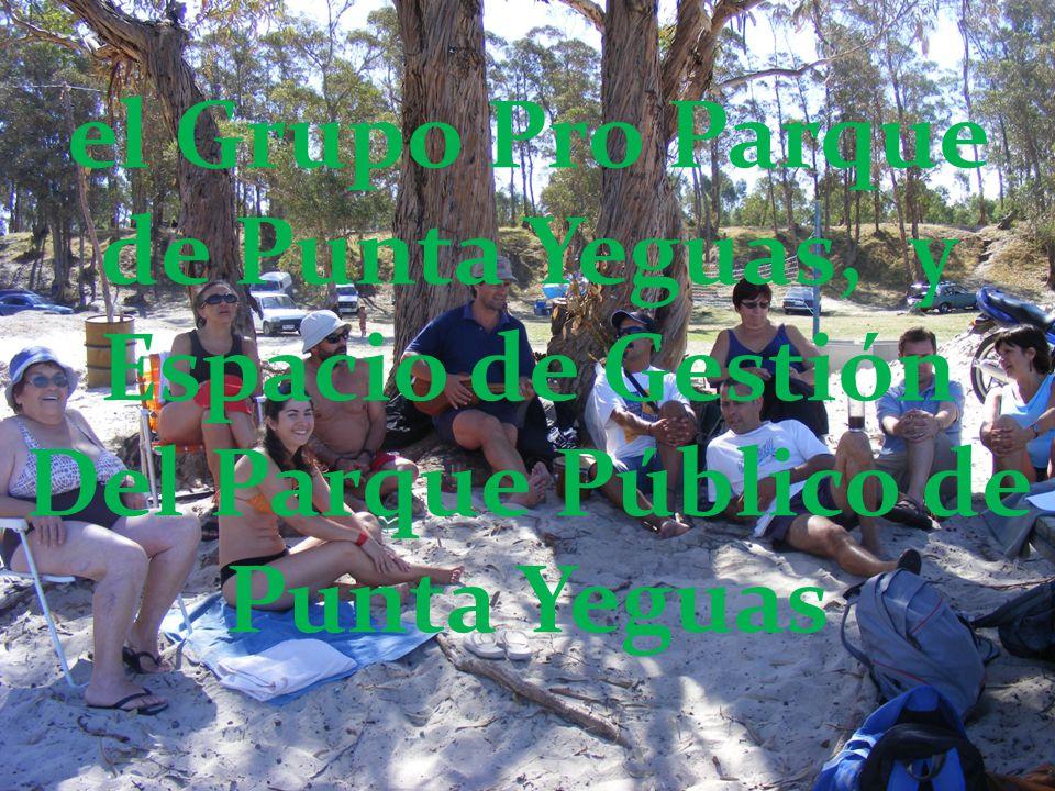 el Grupo Pro Parque de Punta Yeguas, y