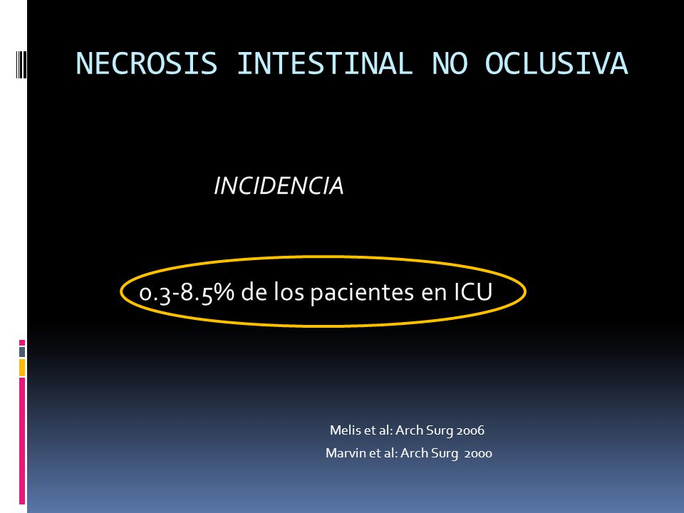 NECROSIS INTESTINAL NO OCLUSIVA