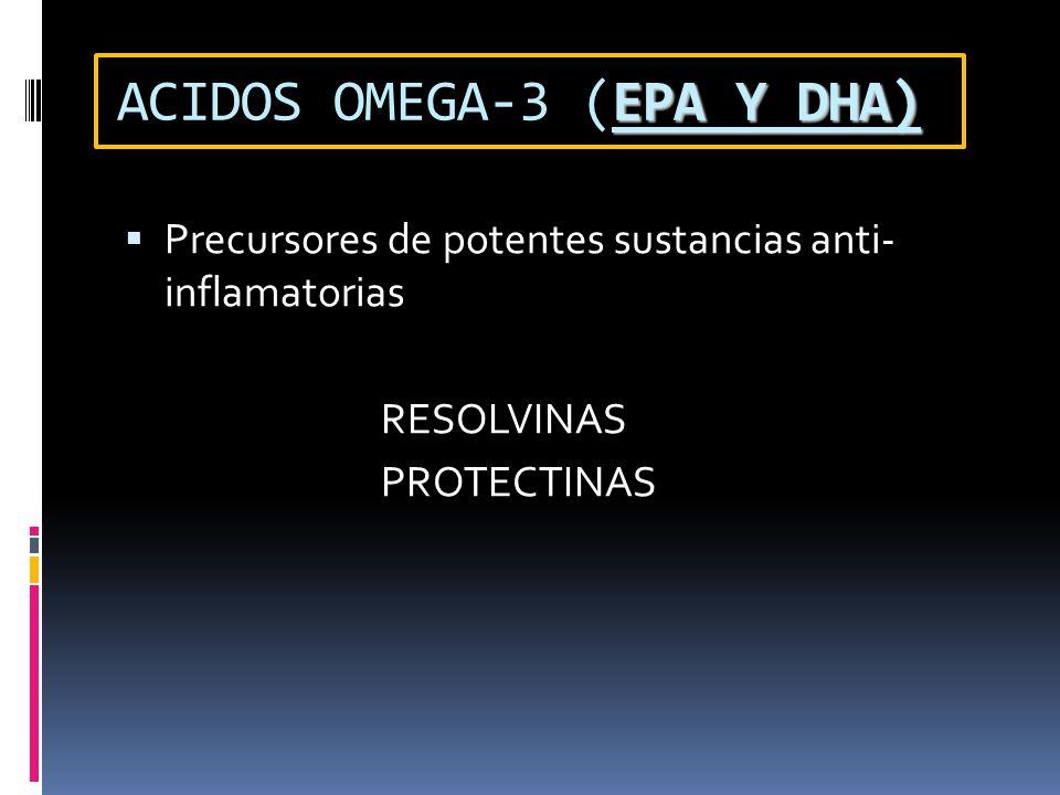 ACIDOS OMEGA-3 (EPA Y DHA)