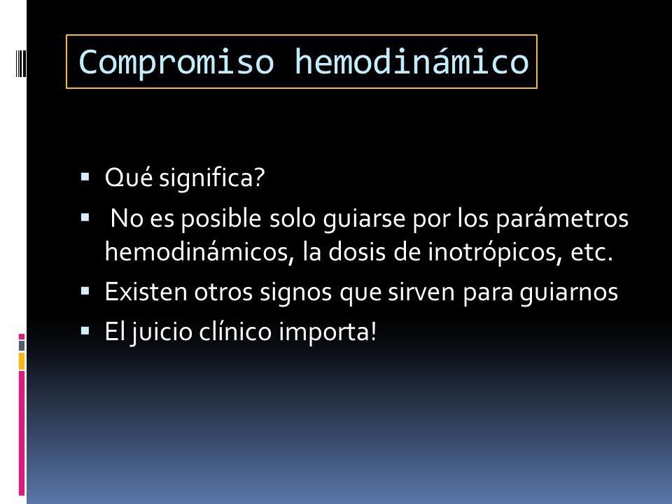 Compromiso hemodinámico