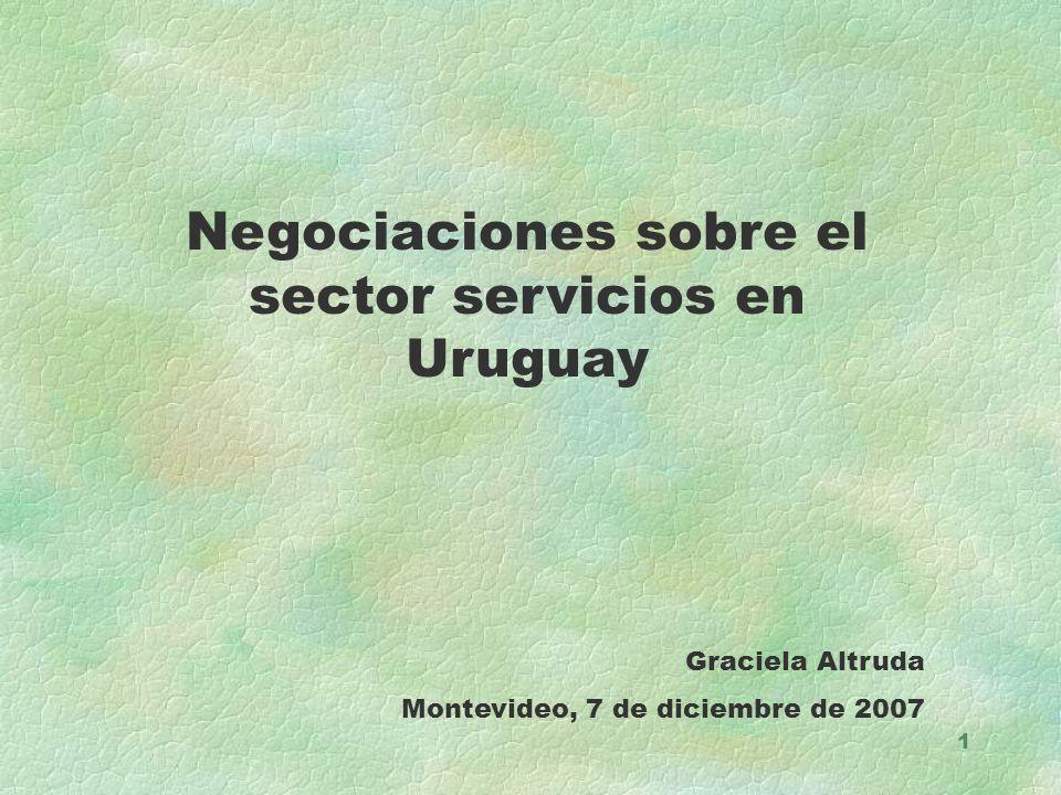 Negociaciones sobre el sector servicios en Uruguay