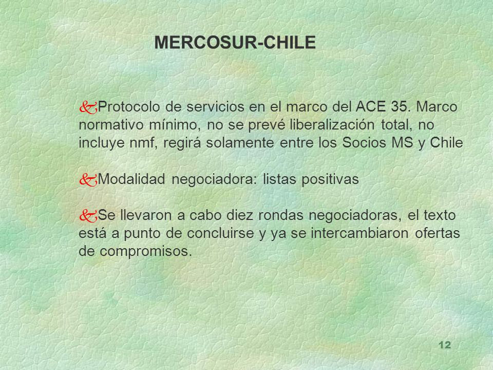 MERCOSUR-CHILE