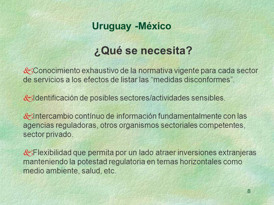 ¿Qué se necesita Uruguay -México