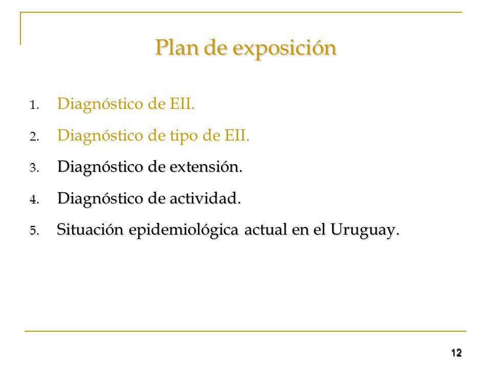 Plan de exposición Diagnóstico de EII. Diagnóstico de tipo de EII.