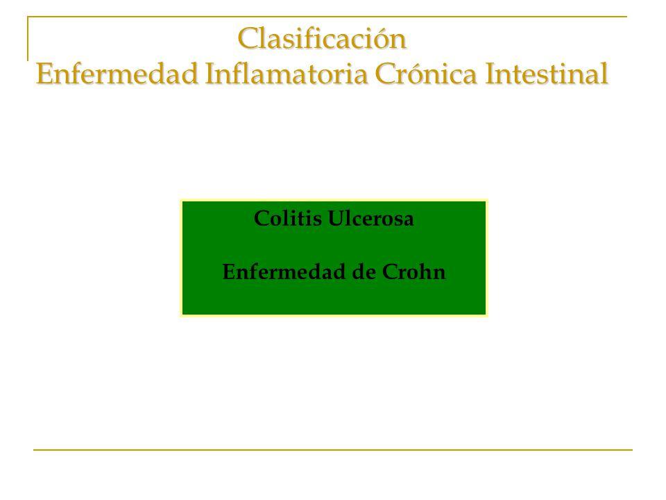 Clasificación Enfermedad Inflamatoria Crónica Intestinal
