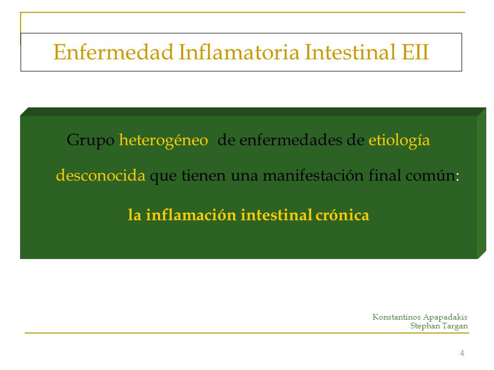 Enfermedad Inflamatoria Intestinal EII