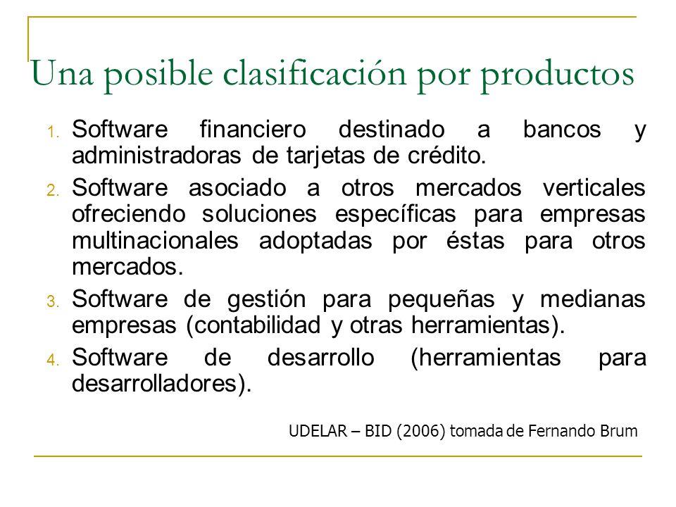 Una posible clasificación por productos